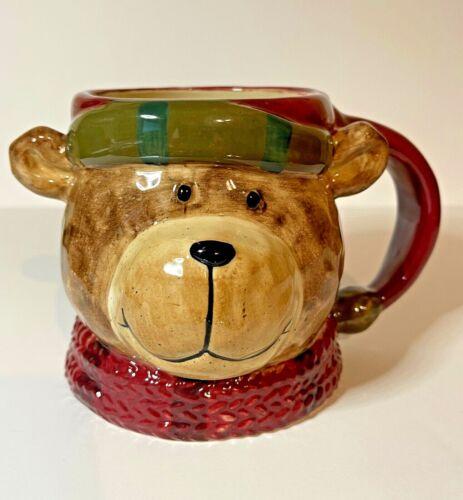 St. Nicholas Square Heartland Bear Mug 18 oz. Christmas Holidays