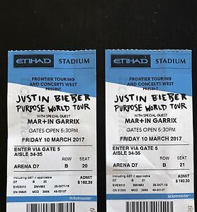 Justin Bieber tickets Invermay Park Ballarat City Preview