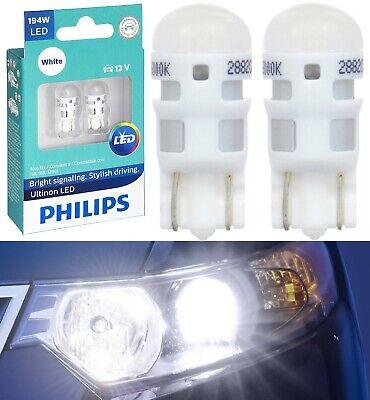 Philips Ultinon LED Light 194 White 6000K Two Bulb Front Side Marker Lamp JDM