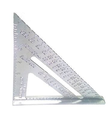 7  Aluminum Alloy Speed Square Use As Protractor Miter Carpenter Framing Square