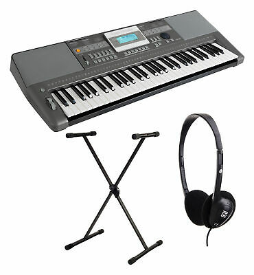 Teclado Piano Electronico 61 Teclas 508 Sonidos USB Set con Soporte Auriculares