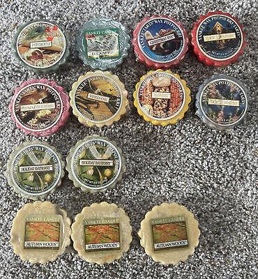 Lot 13 Assorted Yankee Candle Wax Potpourri Tarts .8 oz Holiday Fall Wax Melts
