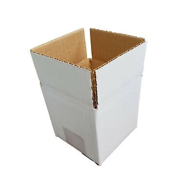 White 4 X 4 X 4 Corrugated Shippingpacking Cardboard Boxes 15 Pieces
