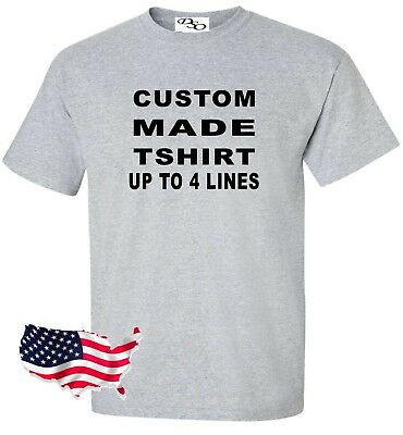 Custom Made Shirt Make Your Own Personalized (16 Tee Colors SM-6X)](Making Your Own T-shirts)