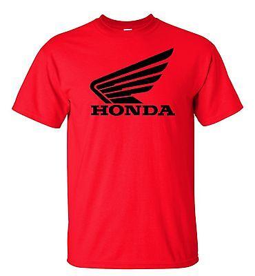 Honda Racing Motocross Atv T Shirt Black Logo S 5Xl Red Shirt Color