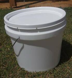 Plastic Buckets with Lids. (Buckets. Pails. Containers.) Eight Mile Plains Brisbane South West Preview