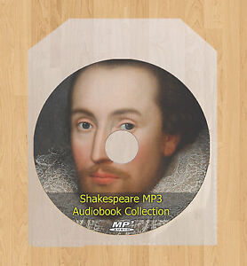 Complete Works of William Shakespeare Plays Audio Books MP3 disc Sonnets Poems