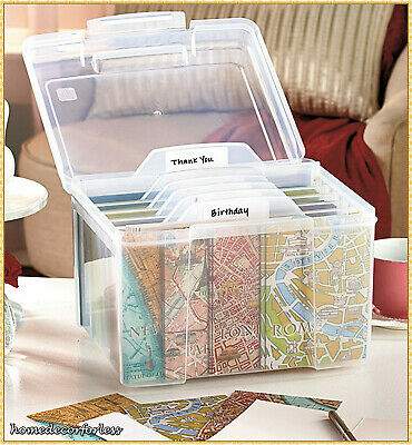 Greeting Card Storage Organizer Box with Dividers Store Cards Crafts Recipes](Crafting Stores)