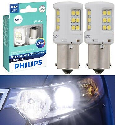 Philips Ultinon LED Light 1156 White 6000K Two Bulbs DRL Daytime Running Replace