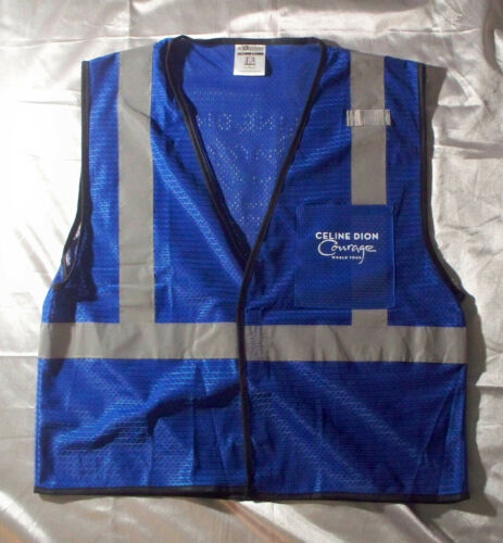 Celine Dion 2019 Courage Tour Local Crew ML-Kishigo Safety Vest L-XL Blue