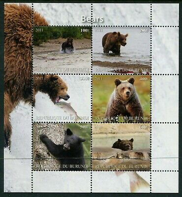 BURUNDI - 2011 'WILD ANIMALS - BEARS' Sheetlet of 6  MNH [A7562]