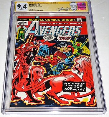 Avengers #112 CGC SS 9.4 Signature Autograph STAN LEE 1st Mantis Appearance Book