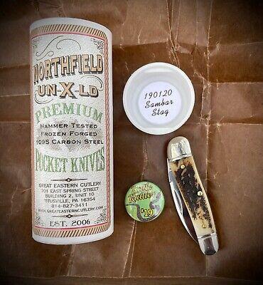Great Eastern Cutlery Northfield #19 Little Rattler Knife Sambar Stag
