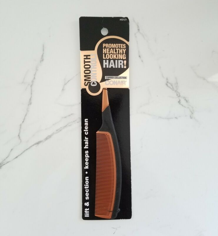 Conair Copper Collection Comb Smooth Control Hair Lift & Section Easy Styling