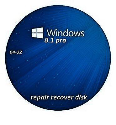 windows 8.1 repair recovery disc pro 32-64