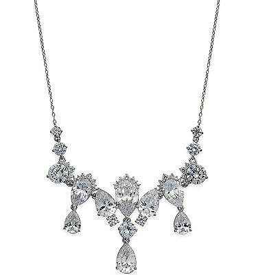 $125 Eliot Danori by Nadri Silver Tone CZ Teardrop Crystal Collar Necklace for sale  Minneapolis