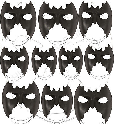 BULK UNISEX LADIES & MEN'S DOMINO MASQUERADE BATMAN EYE MASK FANCY DRESS JOB - Eye Mask Bulk