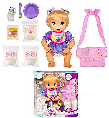 Baby Alive Girl Doll 16in. Interactive Soft Face Mouth Moves Classic 2007 Bonus  for sale  USA