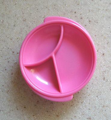 Tupperware Vintage Pink Reheatables Divided Dish refrigerator Magnet NIP! gadget