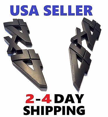 Car Parts - x2 Black 4 X 4 Smoked EMBLEM logo DECAL BADGE Fender lift gate Door FIT ALL CARS