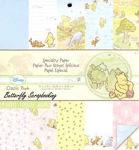 DISNEY Classic Winnie The Pooh 12x12 Scrapbooking Paper Pad 24 Sh EK SUCCESS New