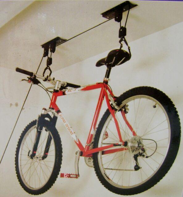 NEW BICYCLE BIKE LIFT CEILING PULLEY BIKE STORAGE RACK ORG