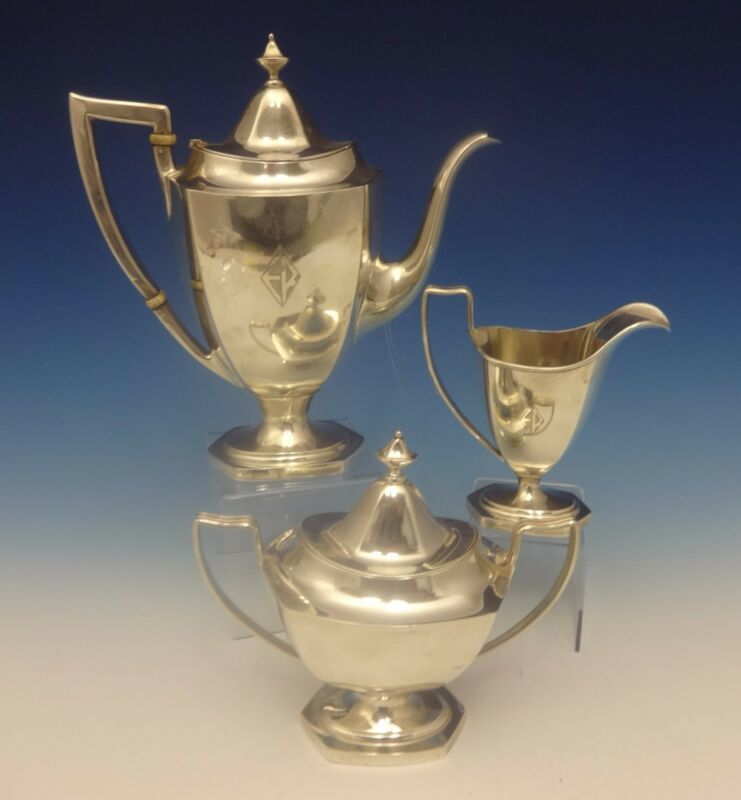Deerfield Aka Beacon Hill By International Sterling Silver Tea Set 3pc (#0347)