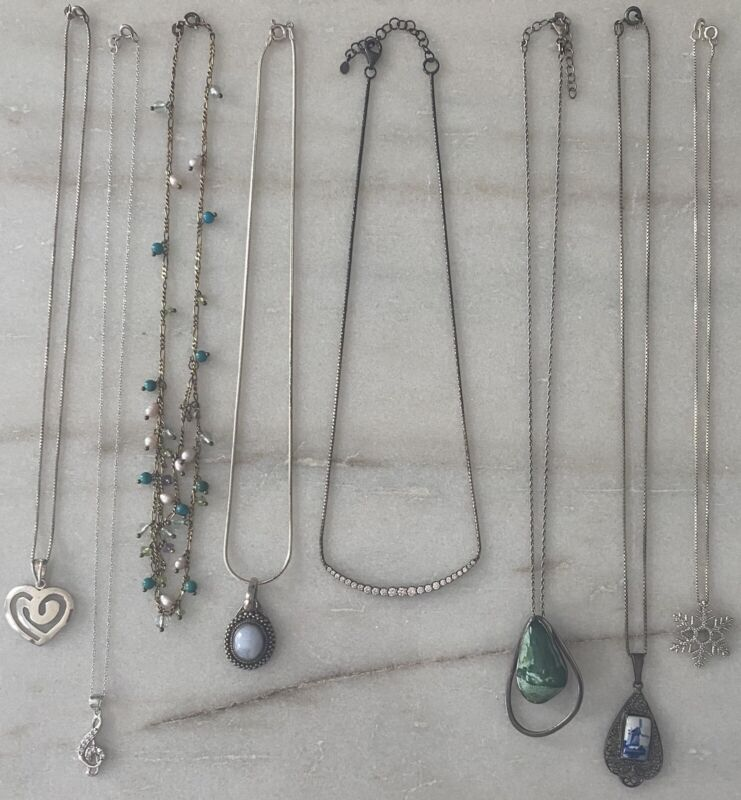 Vintage~Now Sterling Silver 925 Necklace Jewelry Lot Silpada Diamonds Turquoise