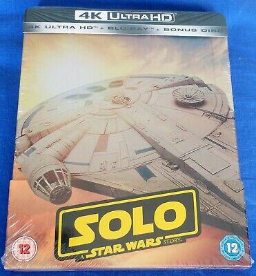 SOLO - A STAR WARS STORY Zavvi UK 4K UHD / Blu-Ray STEELBOOK  Brand New & Sealed