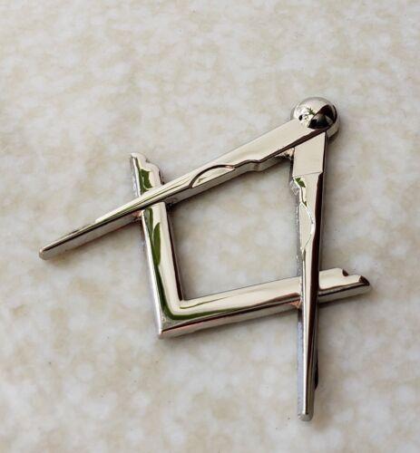 Masonic Master Mason Square & Compass Cut Out Car Auto Emblem Silver DMCE19