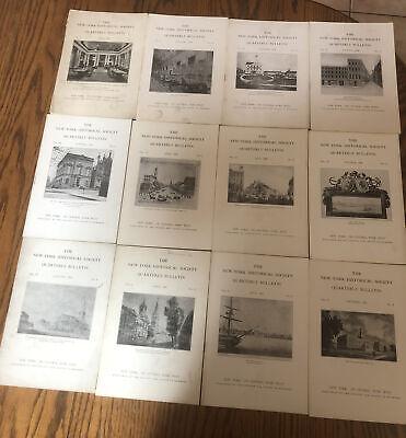 (12) Early New York Historical Society Quarterly Bulletin 1917-1921 Vol 1 #1 Etc