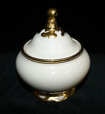 Koenigszelt Porzellan Elfenbeinfarben Sibylle Golddekor Zuckerdose Zuckertopf