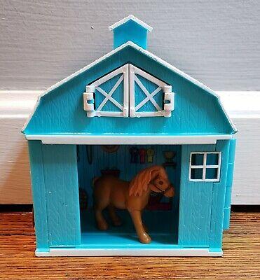 "Breyer Barn Pocket Barn Stablemate Horse Case 5 1/2"" x 5"" Blue Stable"