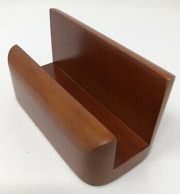 Rolodex Wood Tones Business Card Holder - Wood Mahogany Rol23330