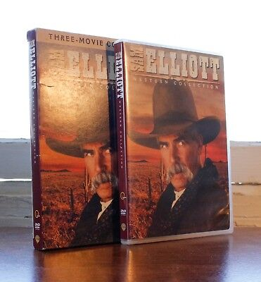 Sam Elliot Western Collection (DVD, 2009, 4-Disc Set) with Slipcase