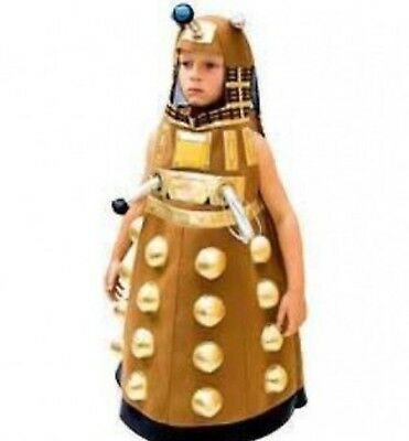 AUTHENTIC DR DOCTOR WHO GOLD DALEK MONSTER TARDIS PLUSH COSTUME CHILD BOYS 5 6 - Dr Who Child Costume
