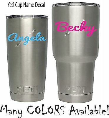 SALE! Monogram Name Decal for YETI