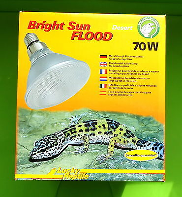 Lucky Reptile Bright Sun UV FLOOD DESERT 70 Watt UVA UVB Strahler