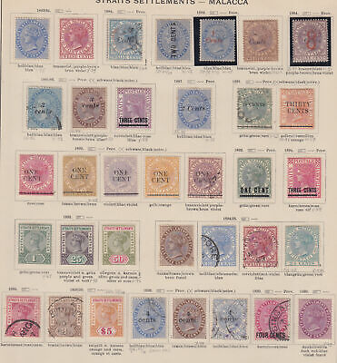 MALAYAN STATES Straits Settlements: 1883-1899 Exceptional collection on - 32796