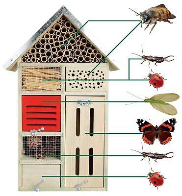 Esschert Design Insektenhotel L Nistkasten Nisthöhle 31,4 x 14,9 x 48,3 cm NEU