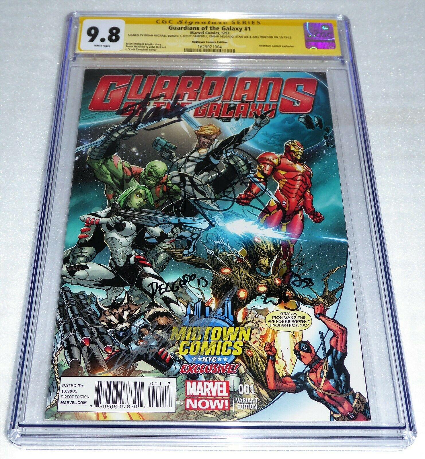 Guardians of the Galaxy #1 CGC SS Signature Autograph 9.8 STAN LEE Midtown Comic