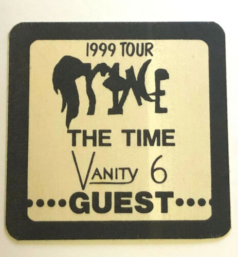 1982 PRINCE 1999 Tour Guest Backstage Cloth Pass - The Time - Vanity 6