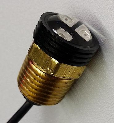 COLOR CHANGING RGB LED BOAT PLUG LIGHT BRASS DRAIN 1/2 NPT MARINE UNDERWATER