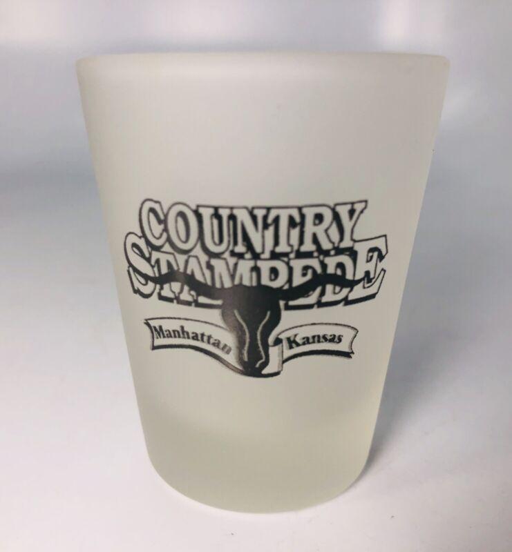 Country Stampede Manhattan Kansas Souvenir Shot Glass