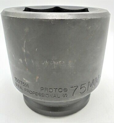 Proto 15075m 75mm 6-point Impact Socket 1.5 Drive