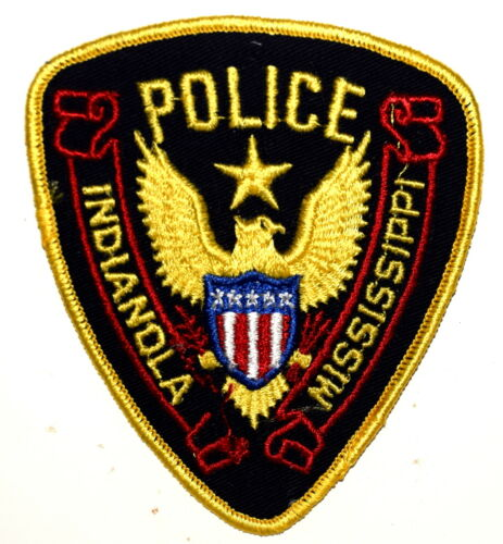 INDIANOLA MISSISSIPPI MS Police Sheriff Patch STAR OVER GOLDEN EAGLE VINTAGE OLD