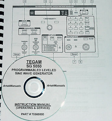 Tegam Sg5050 Programmable Leveled Signal Generator Operating Service Manual
