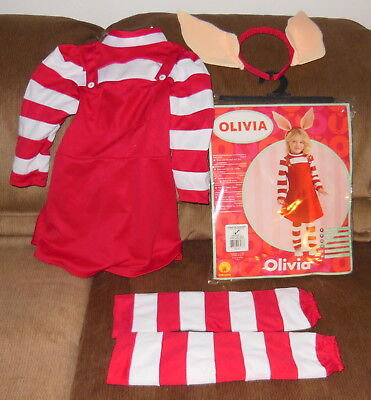 Olivia The Pig Halloween or Dress Up Costume By Rubies Toddler Size 2-4 - Pig Costume Halloween
