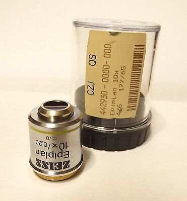 Zeiss Epi-plan 10x Infinity Corrected Microscope Objective Lens Rms Epiplan