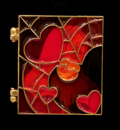 DISNEY JESSICA RABBIT STAINED GLASS Hinged LE 250 Pin New On Card